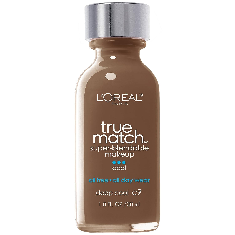 L'Oreal Paris Makeup True Match Super-Blendable Liquid Foundation, Deep Cool C9, 1 Fl Oz, 1 Count