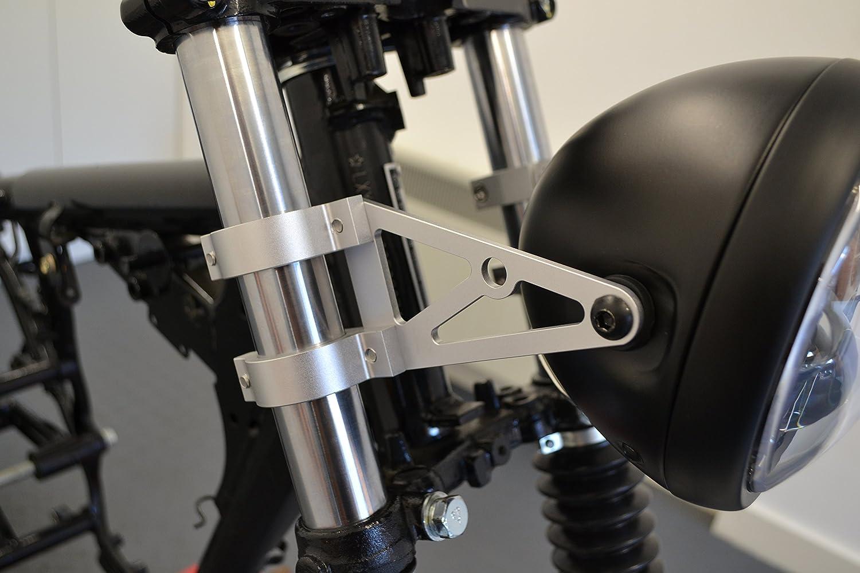 Montaje en la Horquilla Alta Calidad 32-33mm Moto Soportes Faros CNC Aluminio Pulido