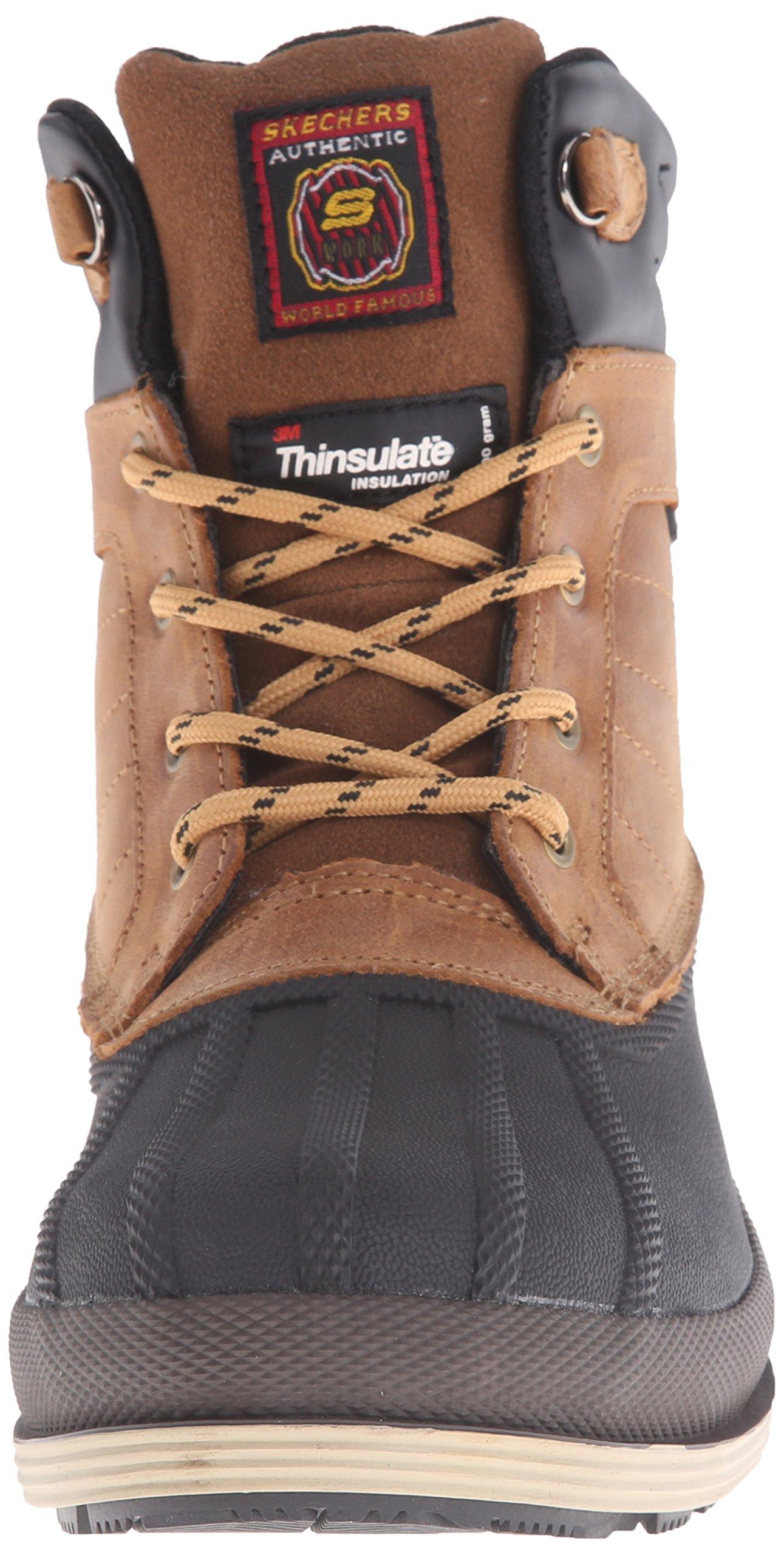 Skechers for Work Women's Duck Rain Boot, Brown, 5.5 M US by Skechers (Image #4)
