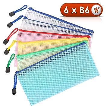Bolsa de Archivo de cremallera Kasimir B6 Bolsa de documentos de zip 5 colores malla bolsa de archivo bolsas de cremallera impermeable con cremallera ...