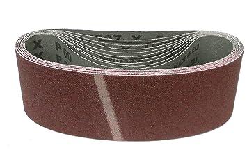 10 Schleifbänder Schleifband 75x533 mm Körnung P120 AEG, Black/&Decker, Bosch