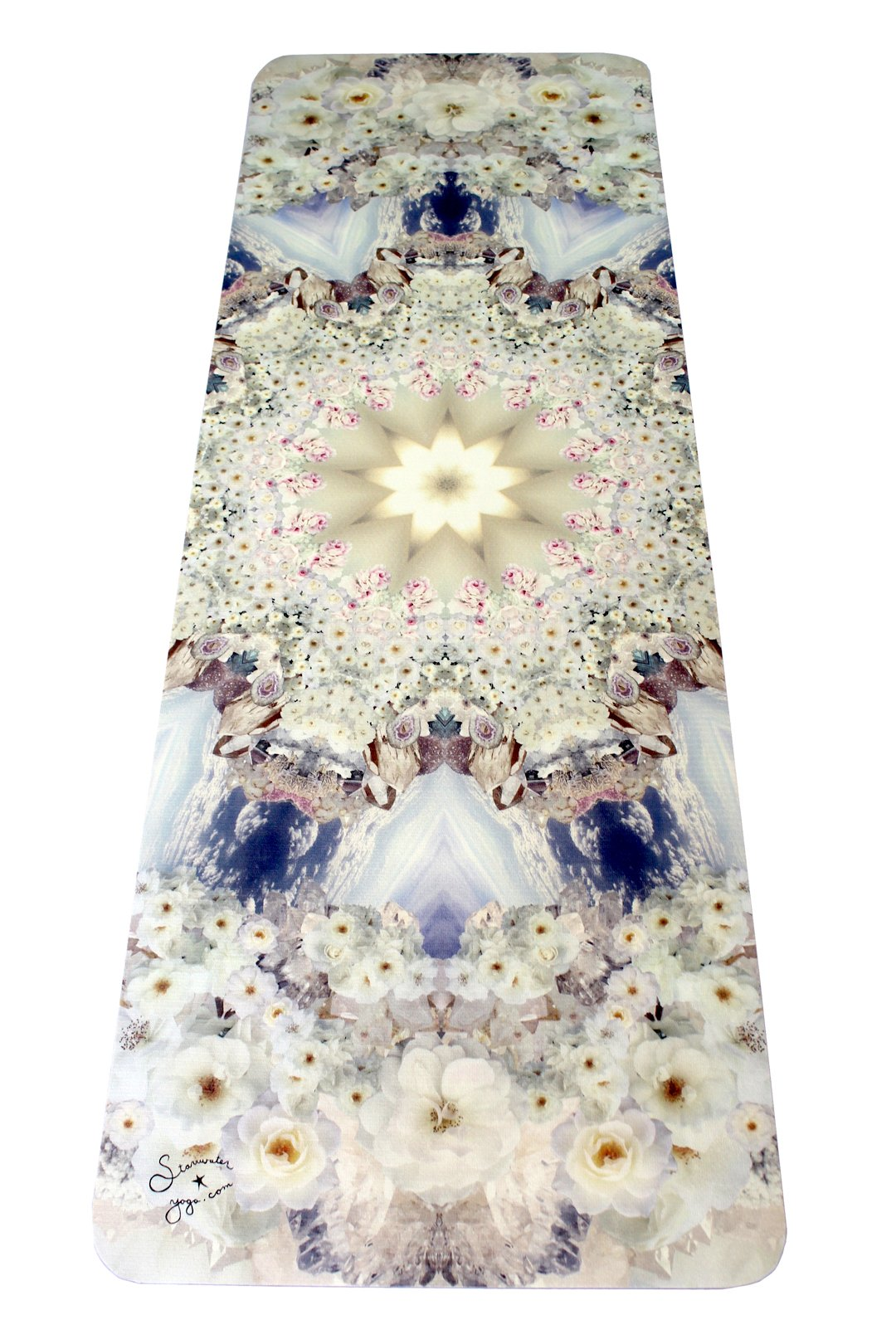 PEACE // White Rose Crystal Yoga Mat