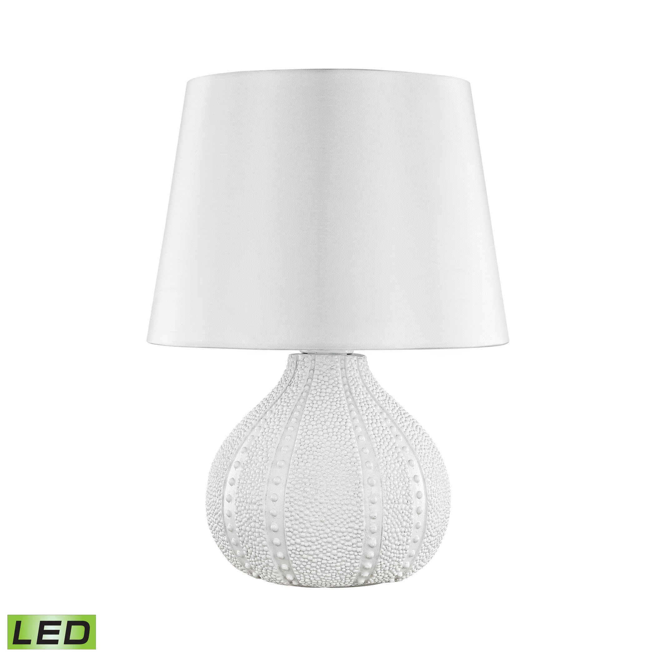 Aruba Outdoor LED Table Lamp With Pure White Shade by AR Lighting