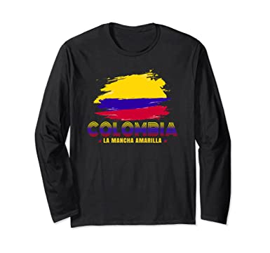 Unisex Colombia long sleeve Tshirt - La mancha amarilla long sleeve Small Black