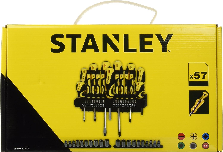 STANLEY STHT0-62143 Set 57 Pezzi Giraviti e Inserti e Chiavi a Bussola