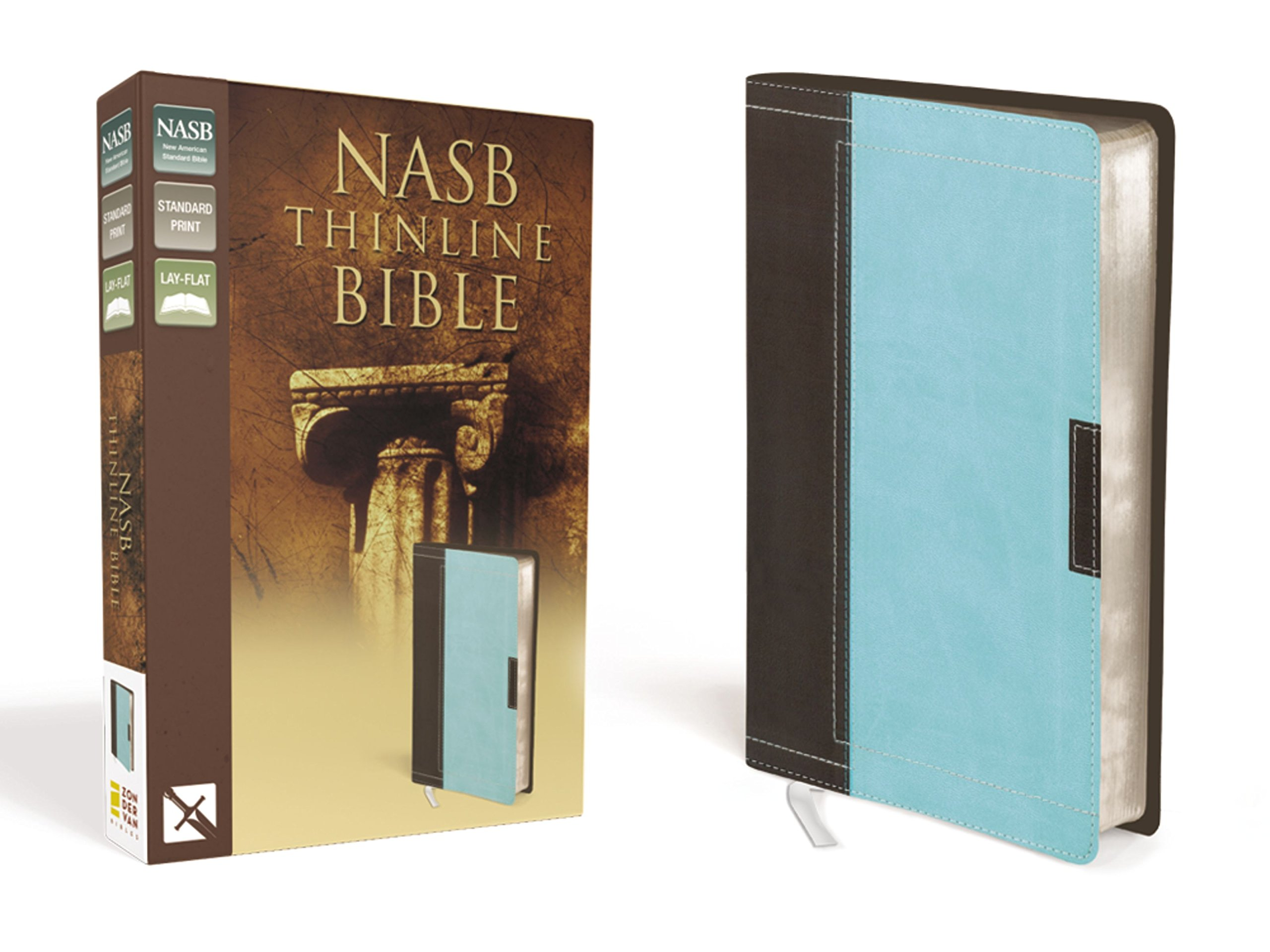 Download NASB, Thinline Bible, Leathersoft, Brown/Blue, Red Letter Edition pdf epub