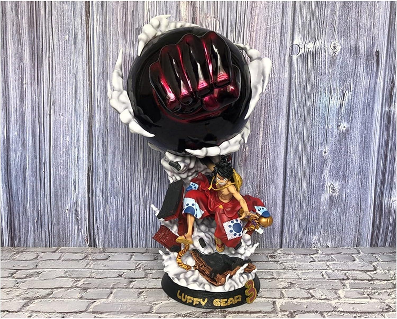 VBCGGGG Una Pieza: Luffy (Kimono Engranaje 3) Muebles de acción Decoraciones de Juguete de Regalo de Anime de una Pieza Serie de muñecas Galería de colección -A