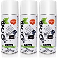 Air Duster Ecomoist (400ml) x3, Excellent for Keyboards, Printers, Computer Components and Other Office Equipment, Laptop Cleaner, PC Cleaning Kit (Pack Set of 3)