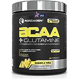 FORZAGEN | Hecho en EUA | BCAA + Glutamine | Aminoácidos de Cadena Ramificada (BCAA 2:1:1) + L-Glutamina Importados | Con Com