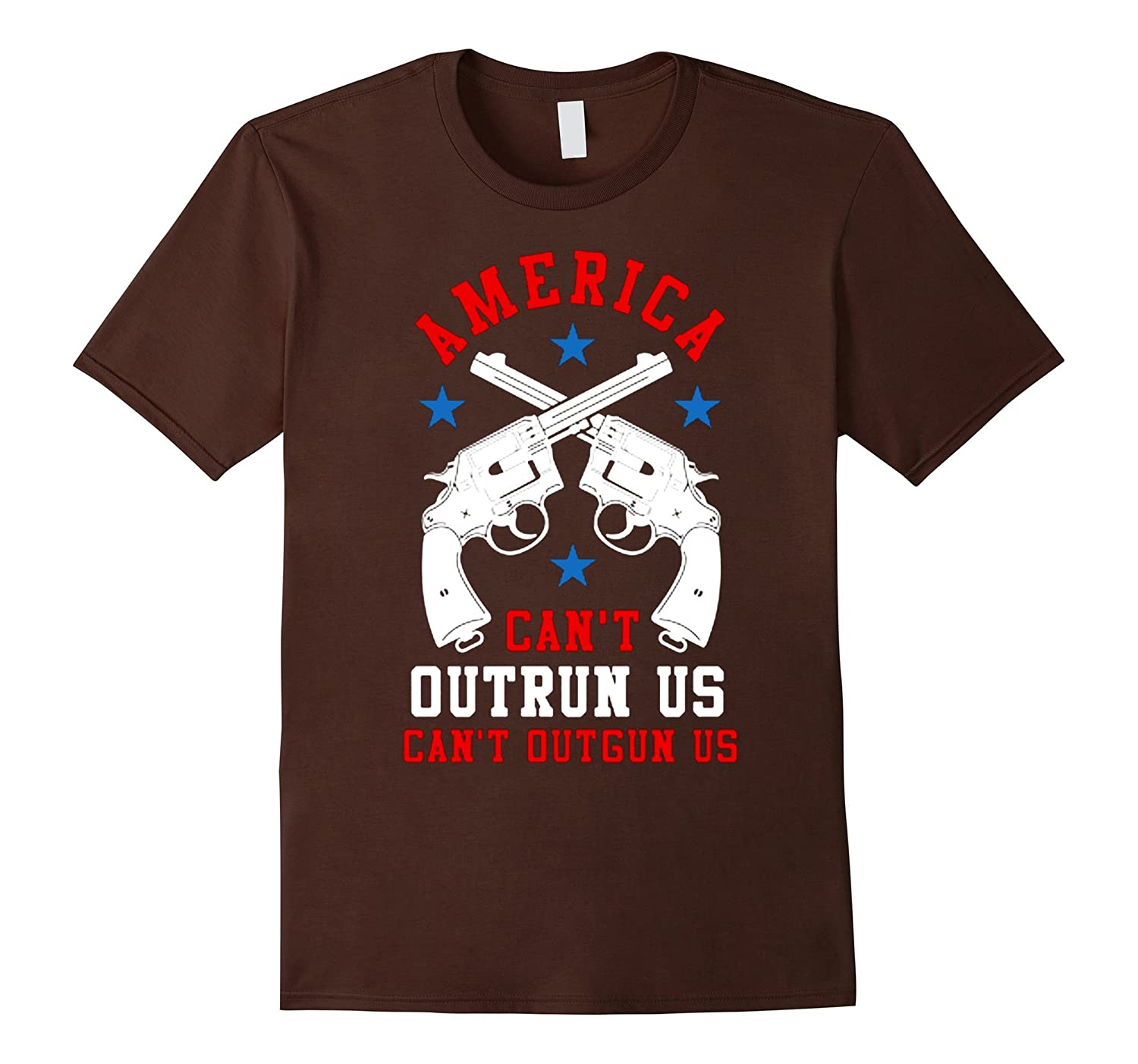 america can't outrun us OutGun us Trump flag july 4th shirt
