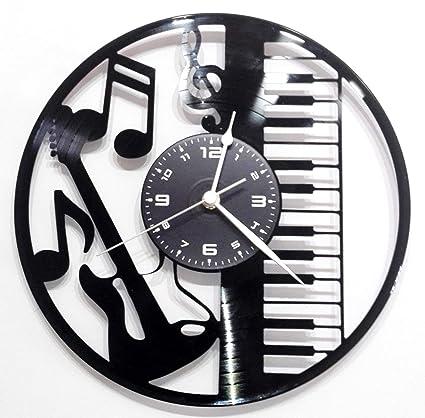 Reloj de vinilo de pared Disco LP 33 RPM Instant Karma – Guitarra batería teclado Instrumentos