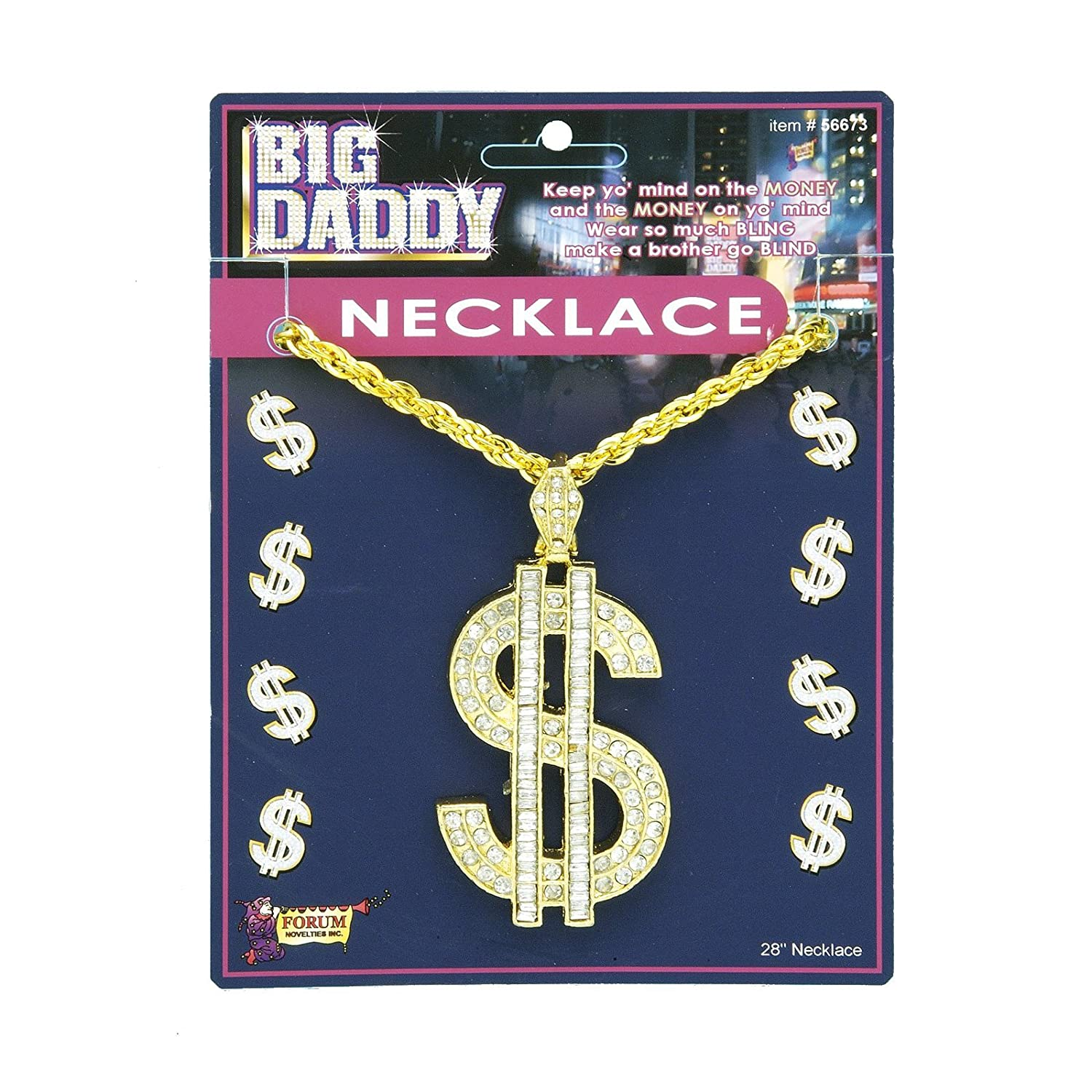 Dollar Sign Necklace Size As Shown Image 1