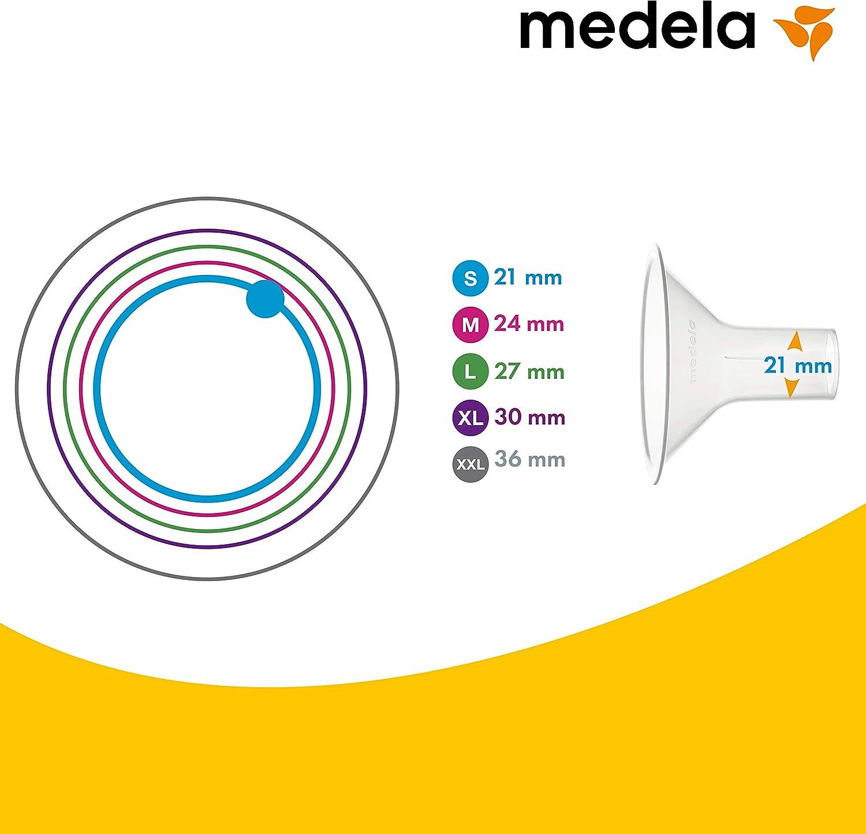 Lot de 2 Medela T/éterelle PersonalFit Flex Diam/ètre 24 mm SAdapte au Sein et Am/éliore L/Écoulement de Lait Taille M Pivote /à 360/°