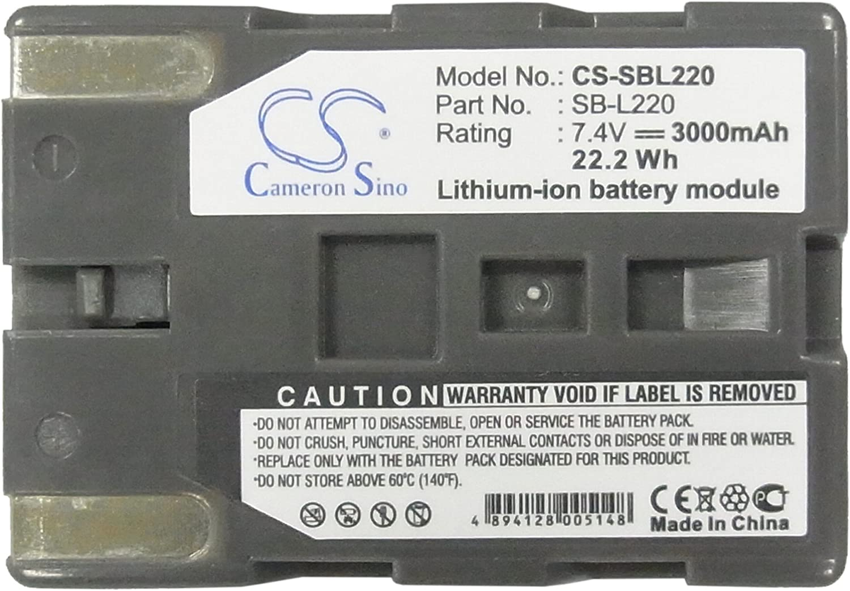XPS Replacement Battery for Samsung SCD20 SCD21 SCD23 SCD24 SCD27 SCD31 SCD323 SCD325 SCD327 SCD33 Samsung SB-L110 SB-L220 SB-L70 SB-L70A SB-L70R SB-LS70AB