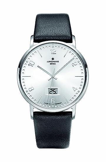 Junghans ANYTIME MILANO 030/4943.00 - Reloj de caballero, correa de piel color negro