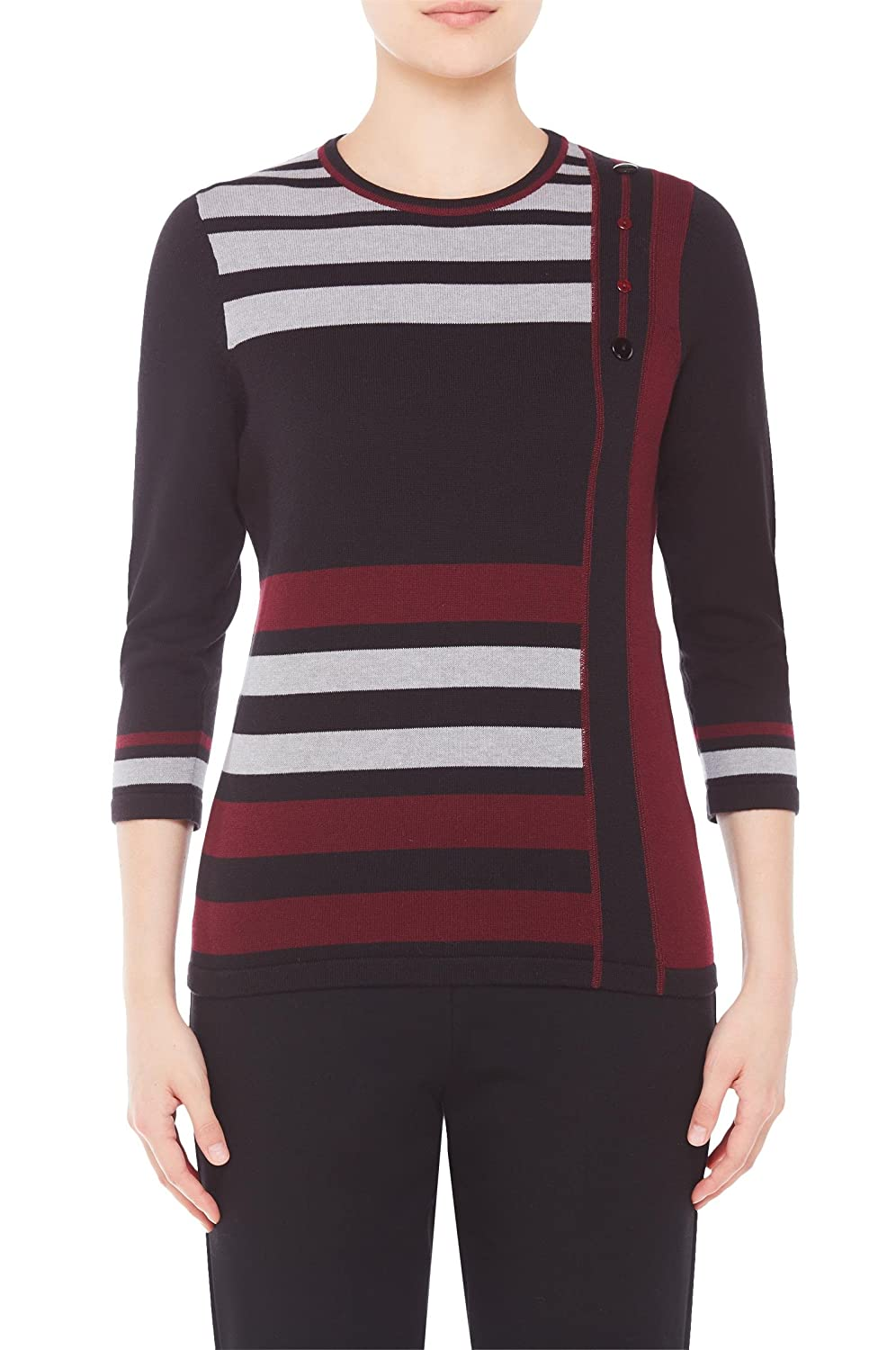 Stripe Sweater with Buttons Nygard 57192739