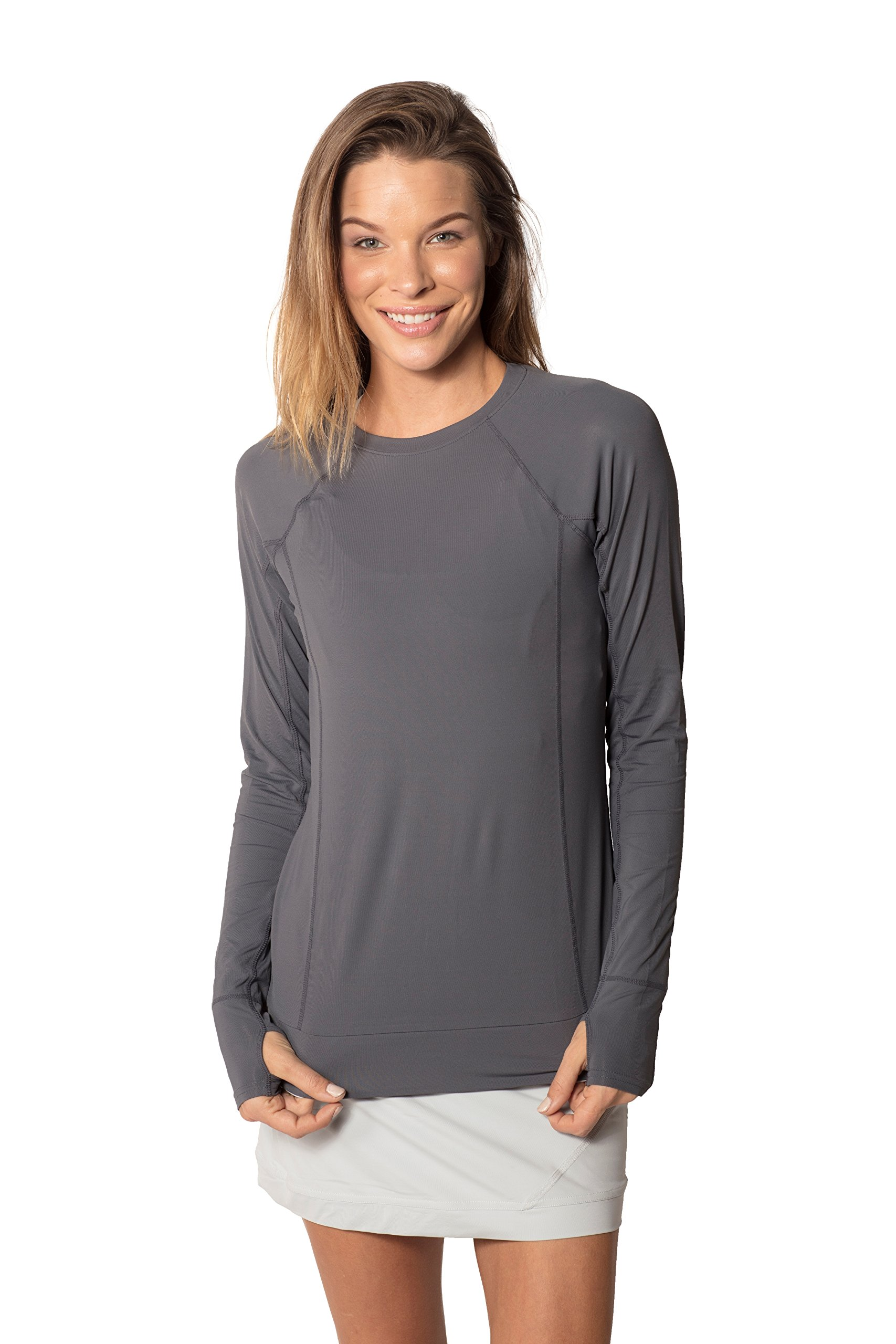 BloqUV Women's Pullover T-Shirt, X-Small, Smoke