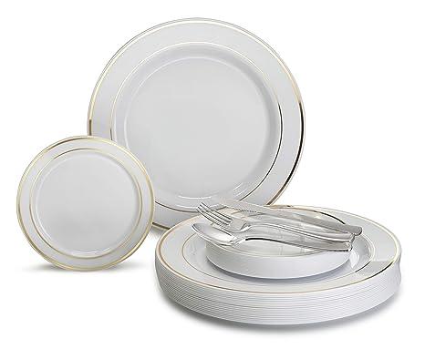 203 & Party Supplies Premium Party Disposable Plastic Plates 60 ...