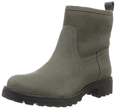 Wrangler Womens Creek Booty Nubuk Ankle Boots GreyGrau 55 Grey