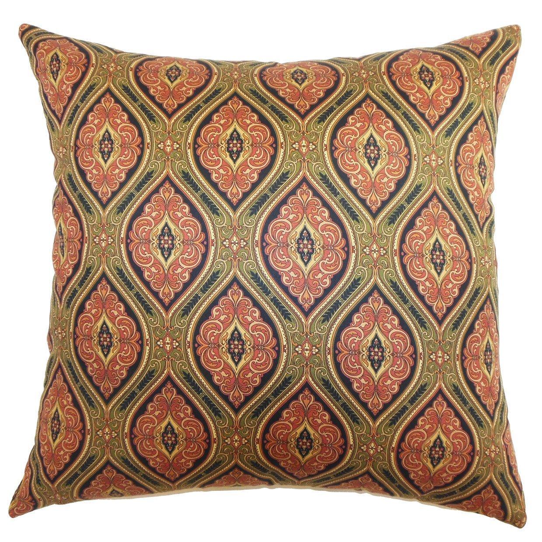 The Pillow Collection Heihe Paisley Bedding Sham Midnight European//26 x 26