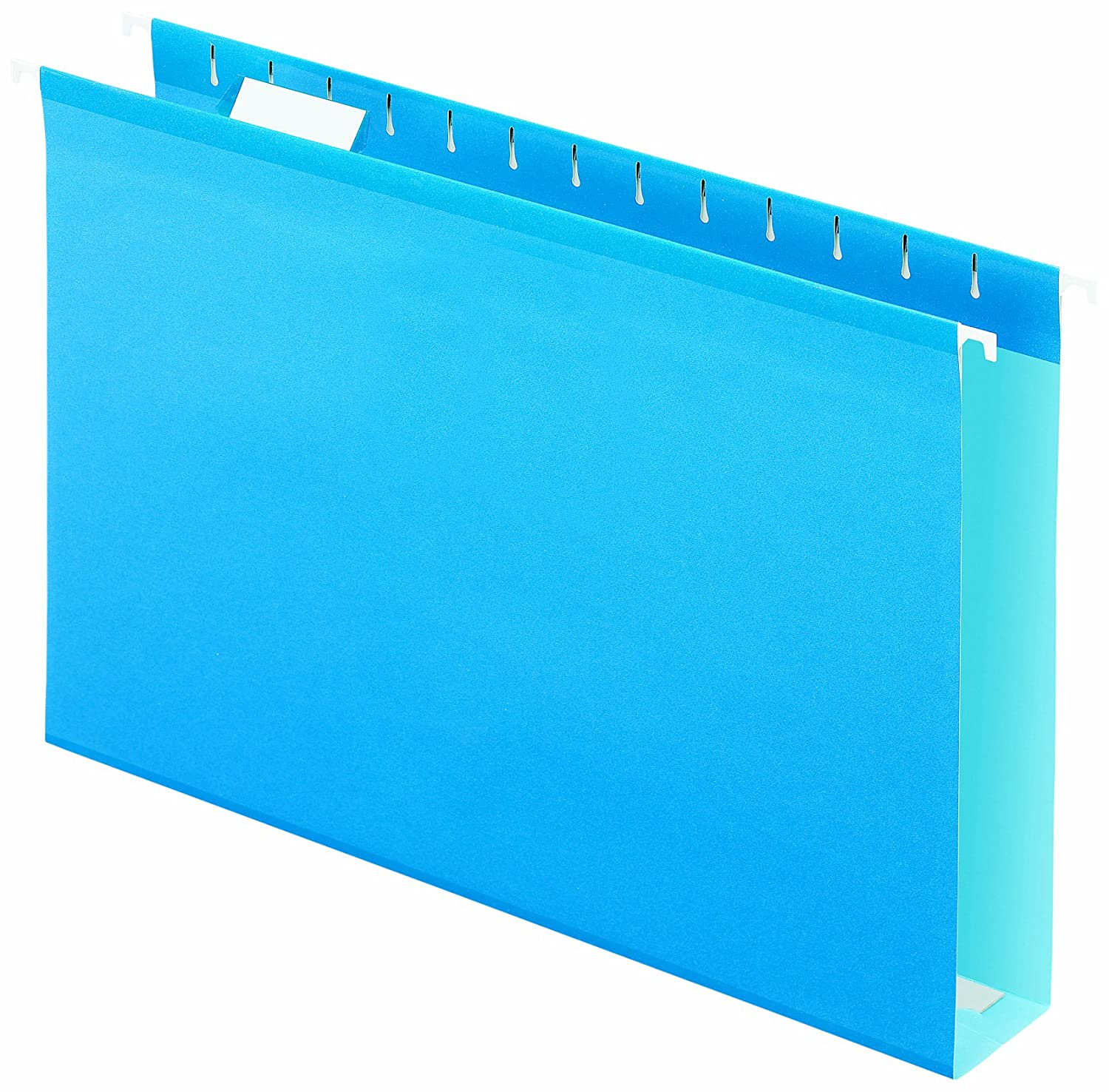 Pendaflex Extra Capacity Reinforced Hanging Folders, 2-Inch Capacity, Legal, Blue, 10/Box 18425