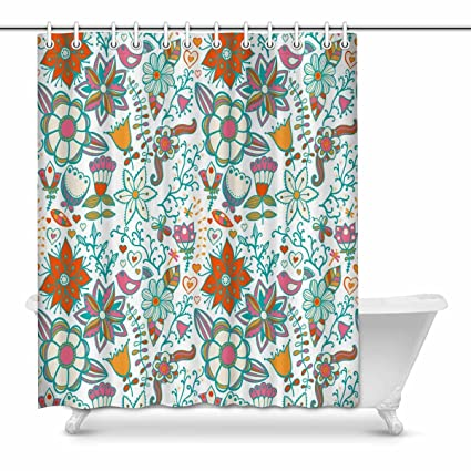 Amazon InterestPrint Bathroom Shower Curtain 60in X 72in With