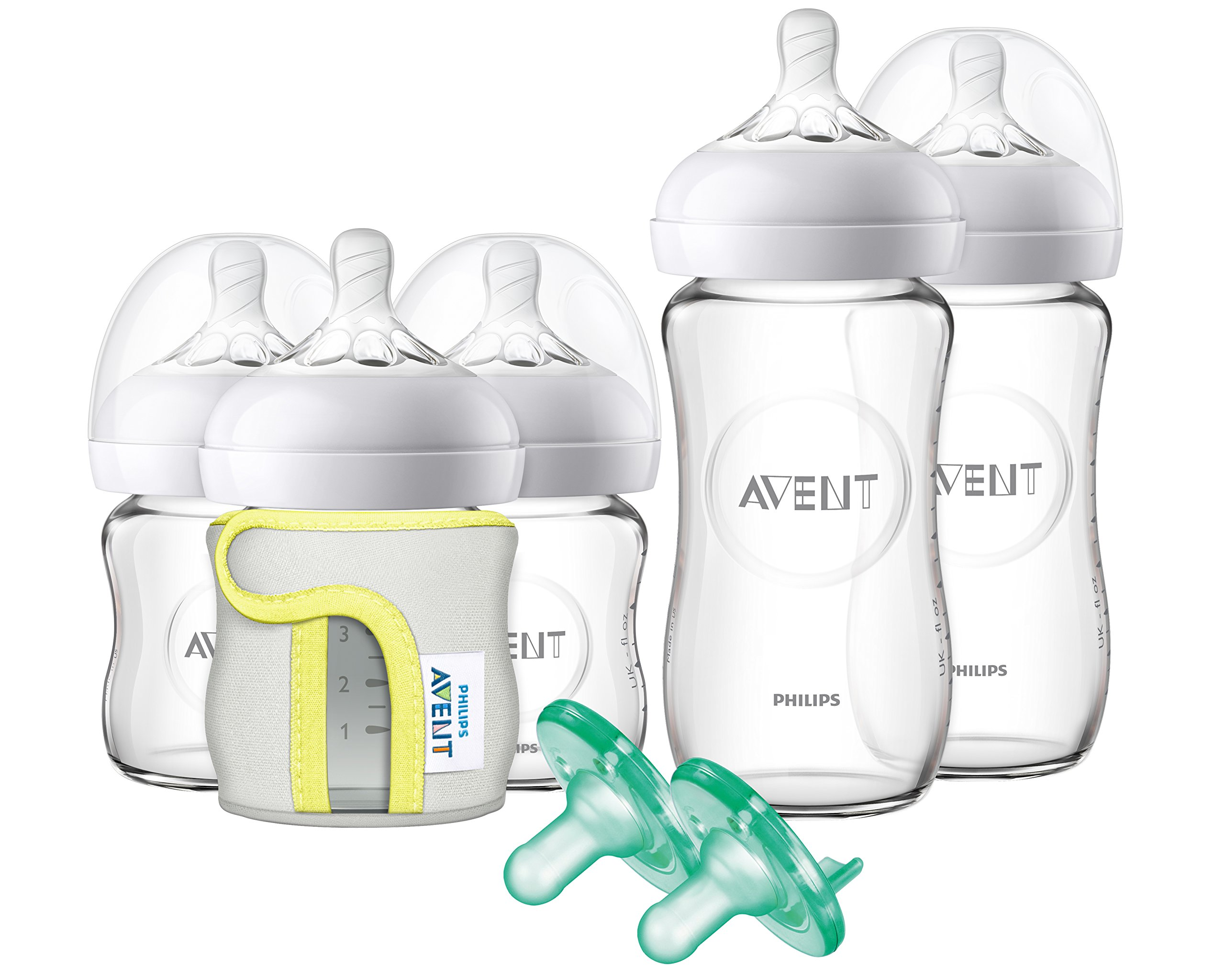 Philips Avent Natural Glass Bottle Baby Gift Set, SCD201/01 by Philips AVENT (Image #1)