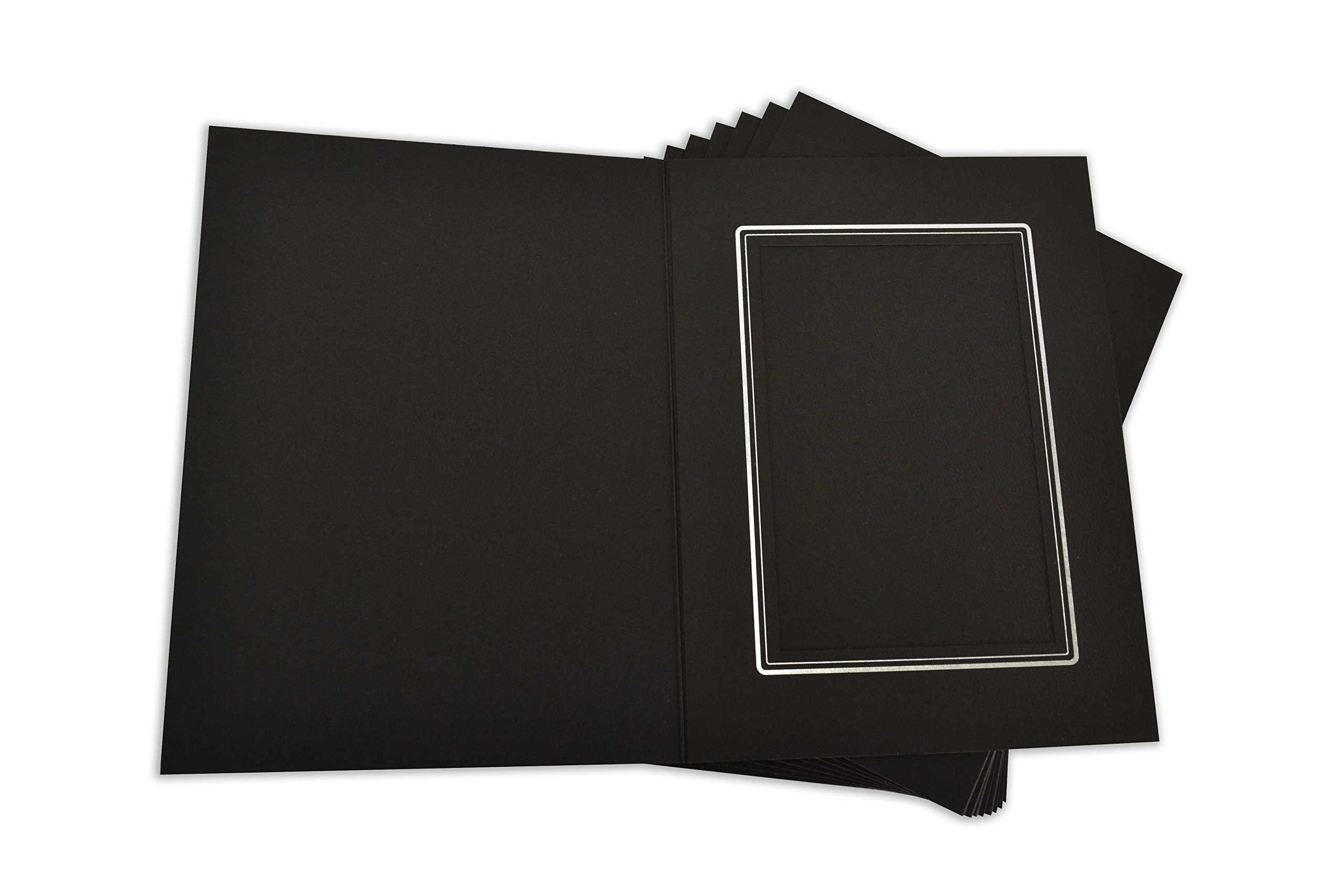 Golden State Art, Cardboard Photo Folder for a 4x6 Photo (Pack of 100) Black Color by Golden State Art (Image #4)
