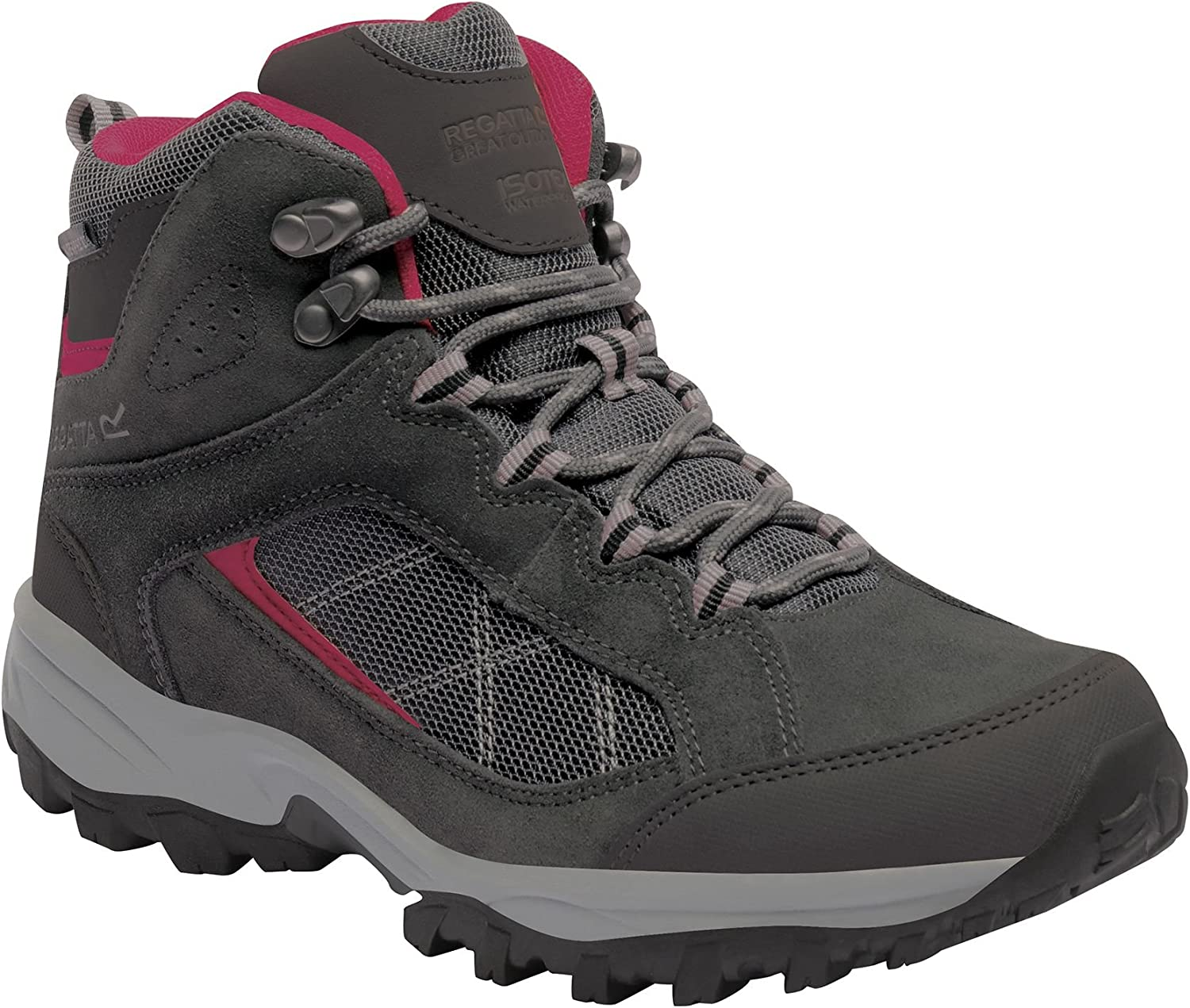 Regatta Great Outdoors Womens/Ladies Lady Clydebank Waterproof Hiking Boots Navy/Ash Rose
