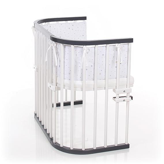 Babybay 160108 auxiliar cama máxima de color gris/blanco lacado extra ventilado, Gris: Amazon.es: Bebé