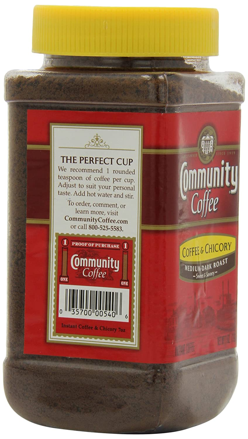 Chicory Coffee Amazoncom Community Coffee And Chicory Instant Coffee 7 Ounce