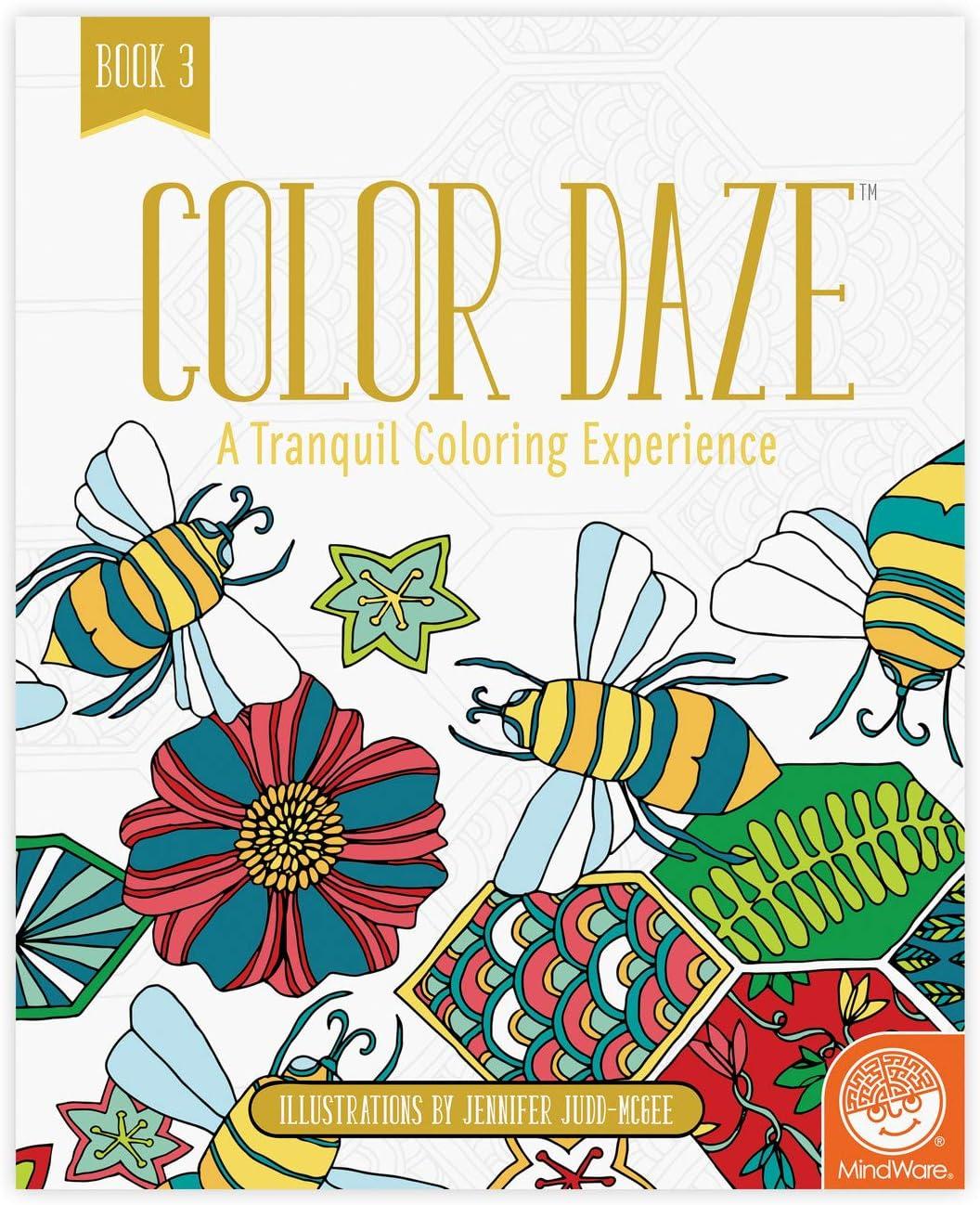 MindWare Color Daze Adult Coloring Book: Book 3