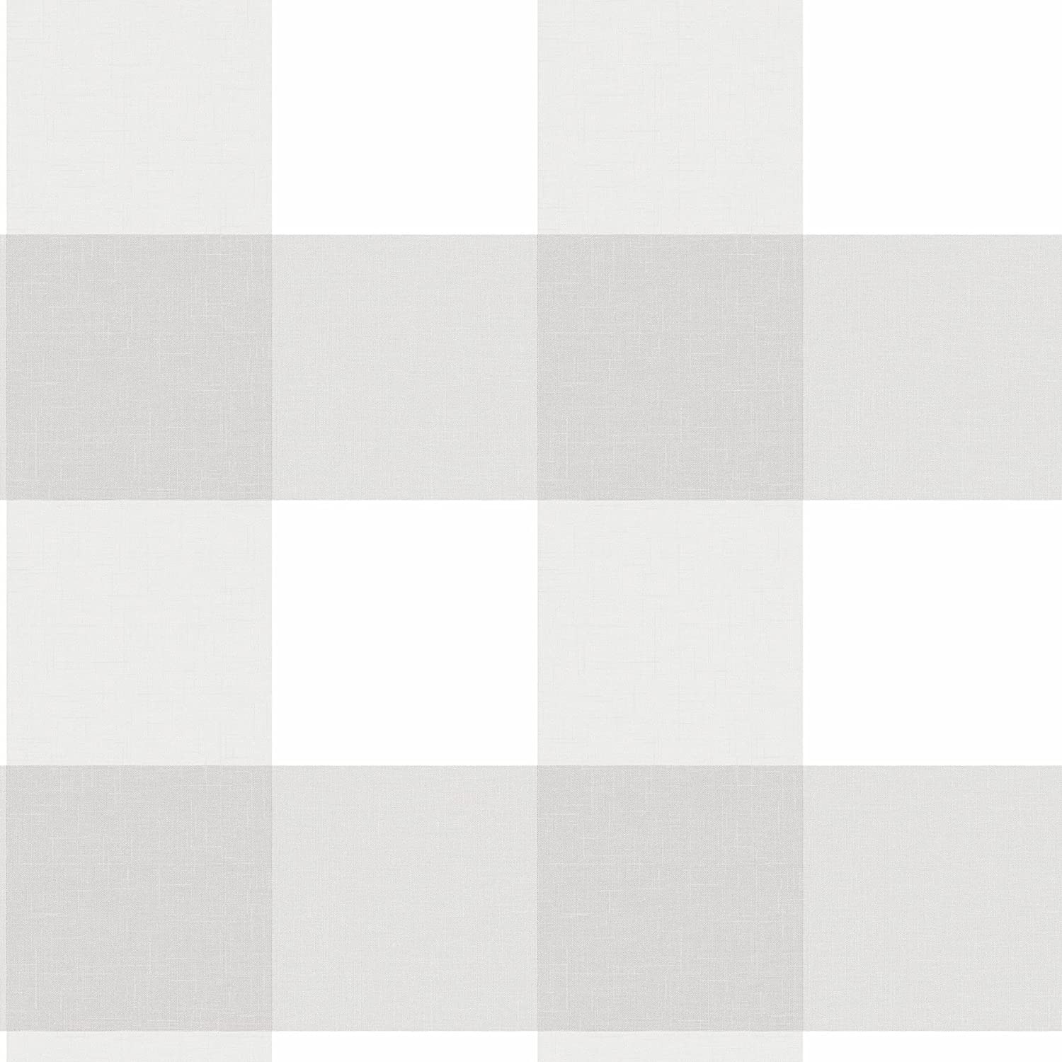 NuWallpaper NU2691 Farmhouse Plaid Peel and Stick Wallpaper, Grey