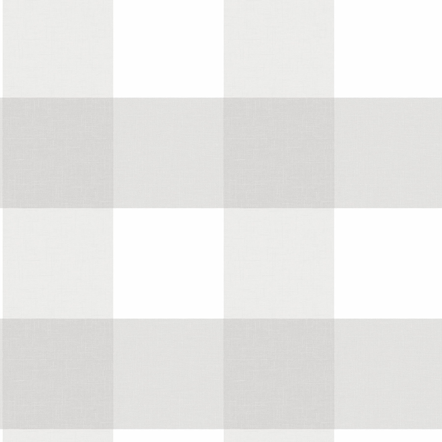 NuWallpaper NU2691 Farmhouse Plaid Peel and Stick Wallpaper, Grey by NuWallpaper