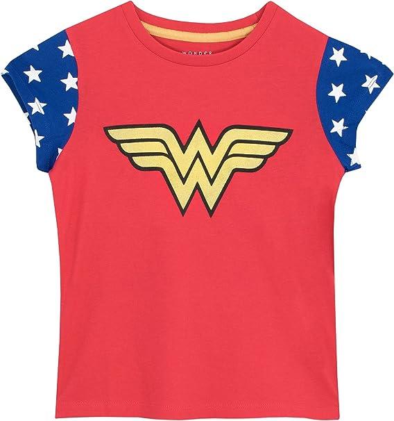 Wonder Woman - Camiseta para niñas - Mujer Maravilla - 9-10 Años: Amazon.es: Ropa y accesorios