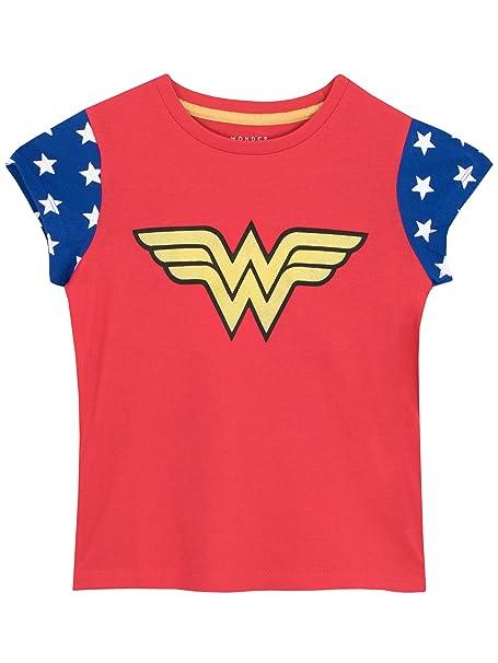 Wonder Woman - Camiseta para niñas - Mujer Maravilla: Amazon.es: Ropa y accesorios