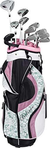 Founders Club Believe Women's Ladies Complete Golf Set 16 Piece Standard or Petite Length Right Handed