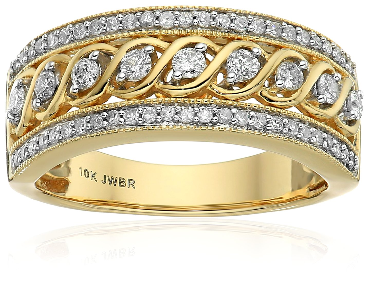 10k Yellow Gold Anniversary Ring (1/2 cttw), Size 7