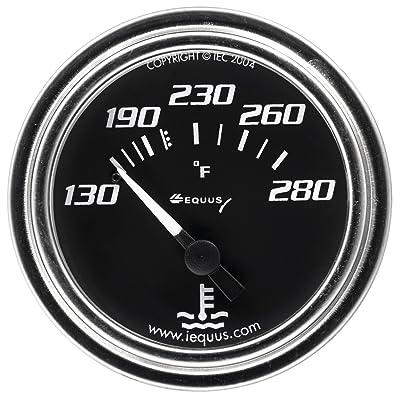 """Equus 7232 2"""" Mechanical Water Temperature Gauge, Black: Automotive"""