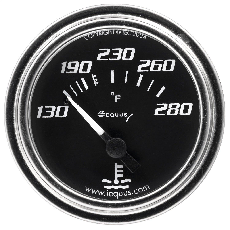 Equus 7232 2 Mechanical Water Temperature Gauge Black