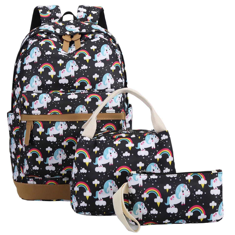School Backpack Teen Girls Bookbags Cute School Bag Kids School Bookbag Set Waterproof Laptop Backpack Casual Daypack