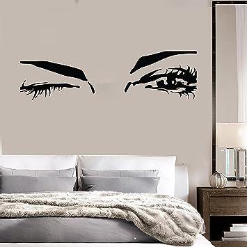 Beautiful Eyes Big Eye Lashes Wink Decor Wall Art Mural Vinyl Decal Sticker  (M462)