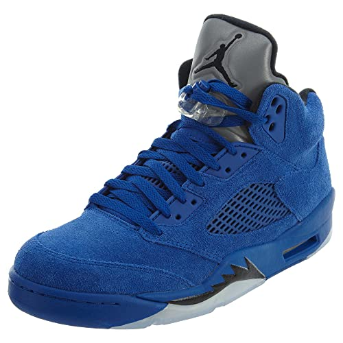 0e3d23572d8 AIR Jordan 5 Retro  Blue Suede  - 136027-401  Amazon.co.uk  Shoes   Bags