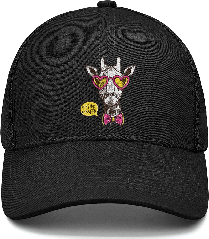Head Giraffe Mad Baseball Cap Adjustable Unisex Mesh Cap Duck Tongue Caps Design Teacher Caps
