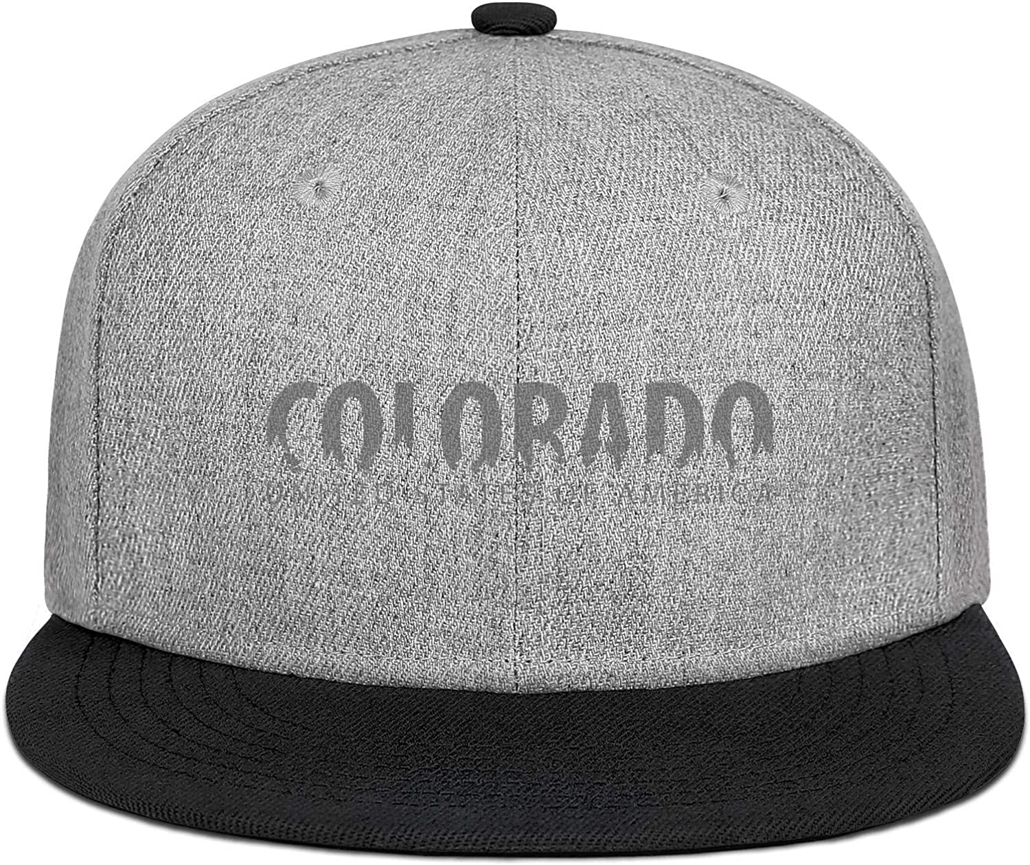 Mens Womens Trucker Hats Colorado USA United States of America Snapback Printed Caps