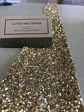 Glitter Fabric Wall Borders Sparkly Blind Trim Gold Amazon Co