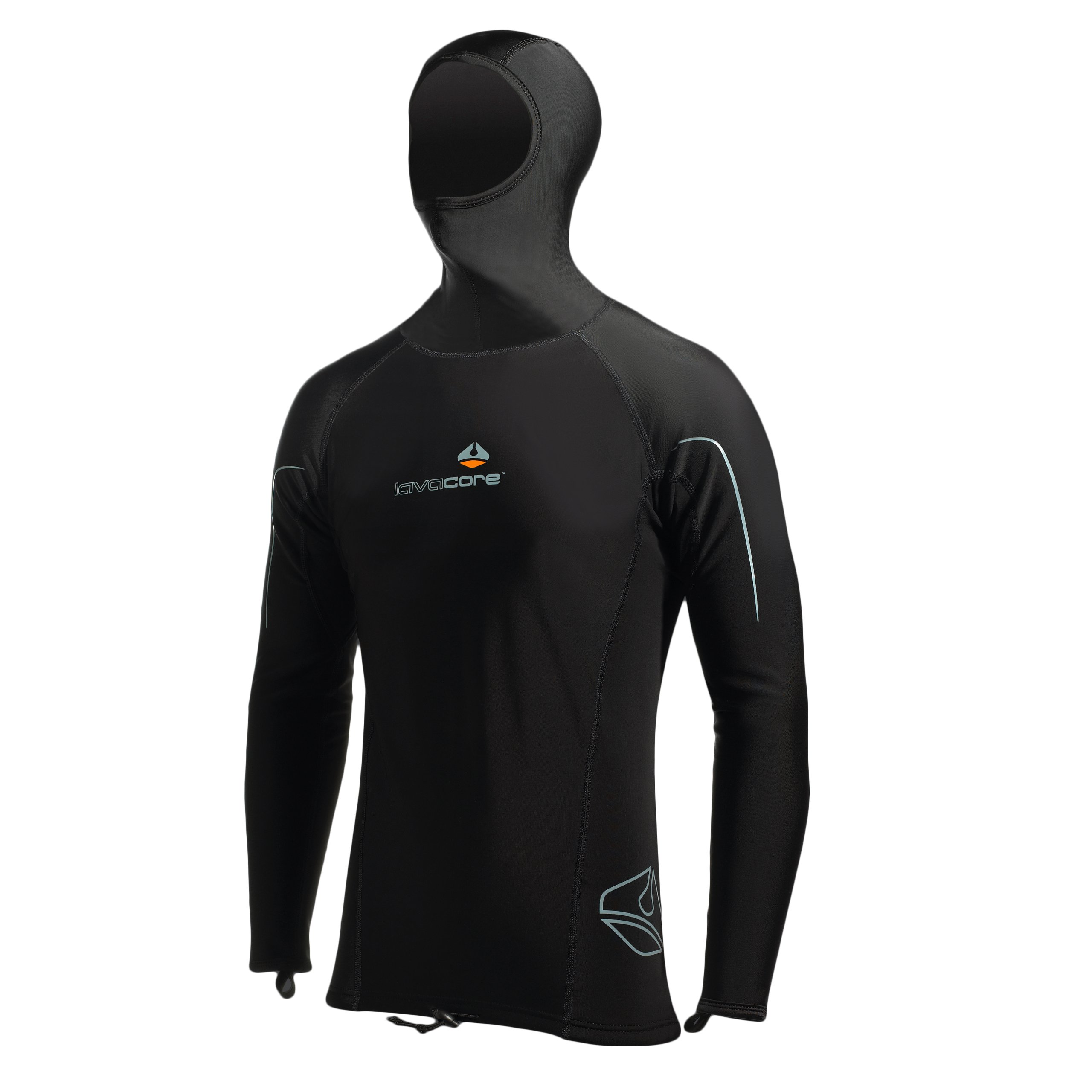 Lavacore by Oceanic Men's Long Sleeve Hooded Shirt - X-Large