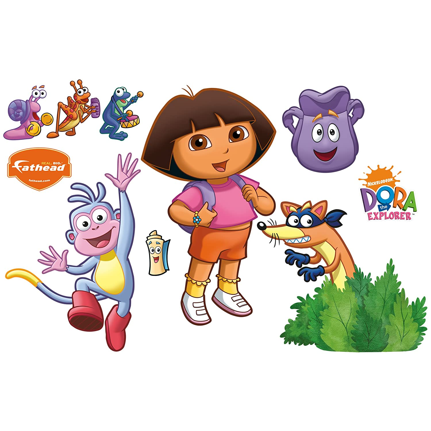 Uncategorized Dora And Boots Pictures dora the explorer backpack and boots wall decal amazon ca home kitchen