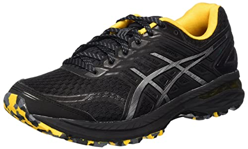Asics Men's Gt-2000 5 PLASMAGUARD Trail Running Shoes, Black (Black/Carbon