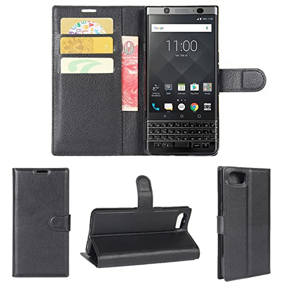 outlet store 712b6 d679a BlackBerry Keyone Case,K-Xiang [Credit Card Slot] [Built-in Stand] Retro PU  Leather Wallet Case Flip Cover BlackBerry Keyone/Mercury/DTEK70 (4.5